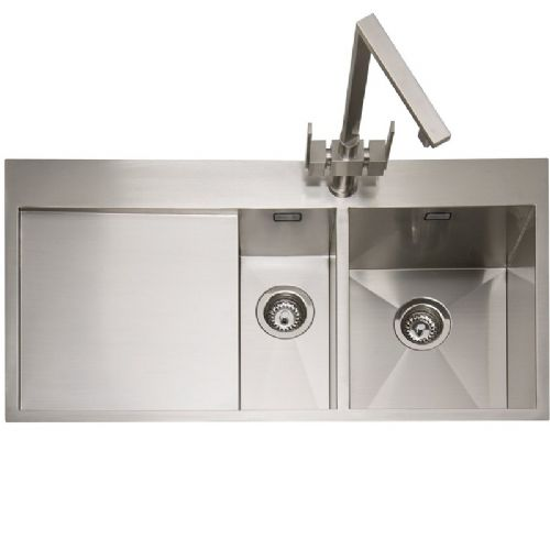 Caple Cubit 150 One and a Half Bowl Stainless Steel Inset Kitchen Sink